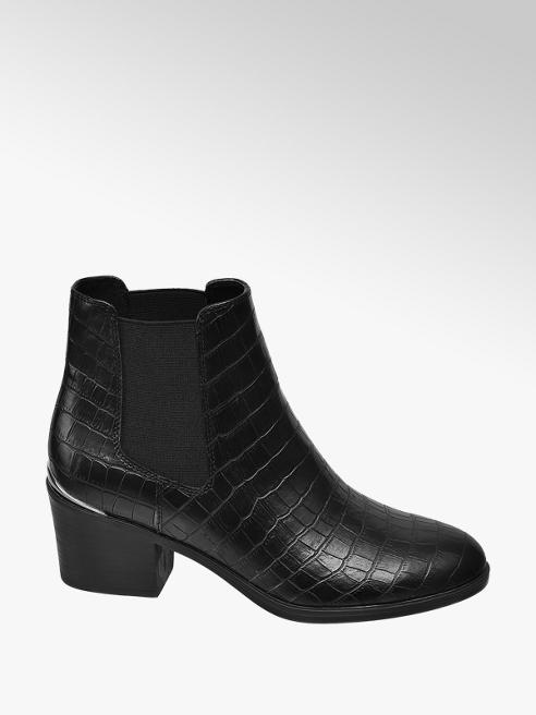 Graceland Čierna Chelsea obuv so zvieracím vzorom Graceland