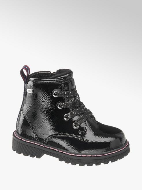 Tom Tailor Čierna detská členková obuv so zipsom a TEX membránou Tom Tailor