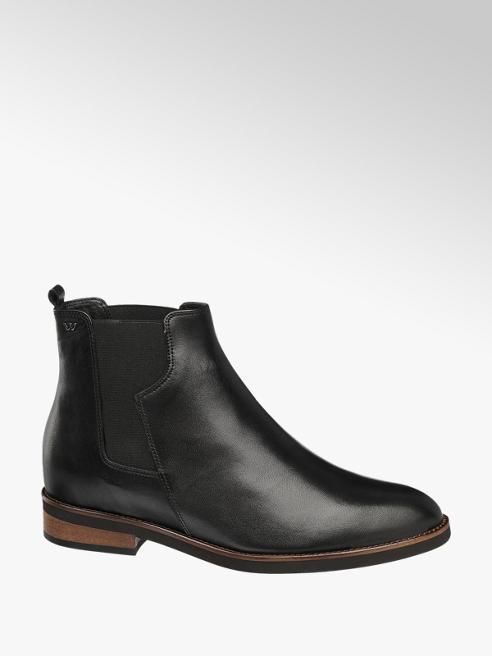 Wojas Čierna kožená Chelsea obuv Wojas