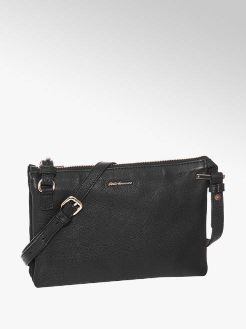 5th Avenue Čierna kožená kabelka 5th Avenue