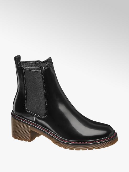 Catwalk Čierna lakovaná Chelsea obuv Catwalk