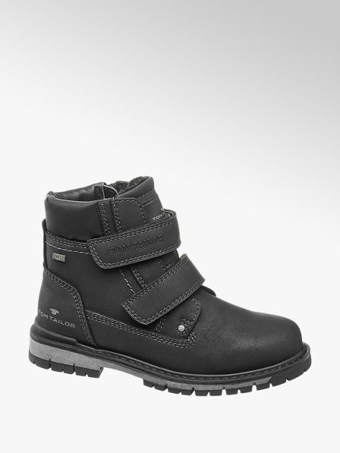 Tom Tailor Čierna členková obuv na suchý zips s TEX membránou Tom Tailor