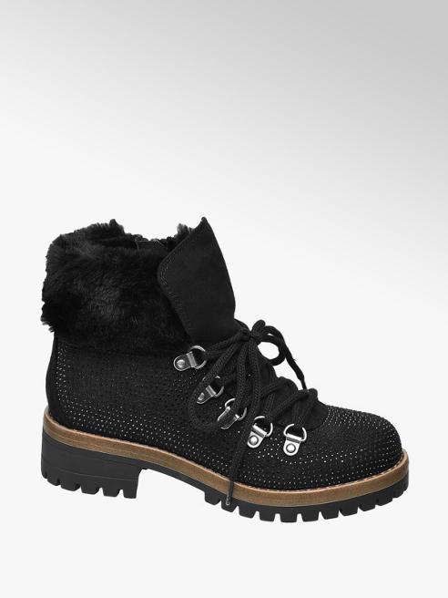 Graceland Čierna členková obuv na zips Graceland