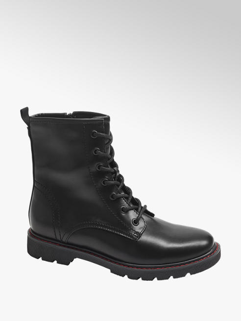Catwalk Čierna šnurovacia obuv so zipsom Catwalk