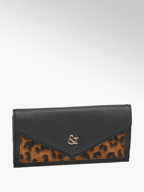 Edel & Stark Čierna peňaženka so zvieracím vzorom Edel & Stark