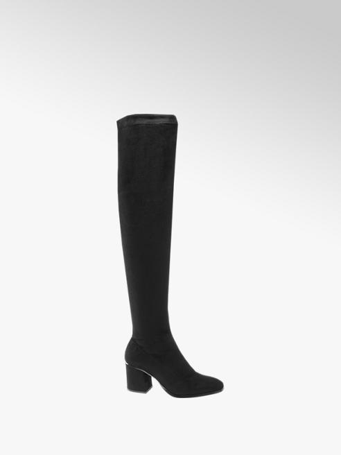 Vero Moda Čierne čižmy nad kolená Vero Moda