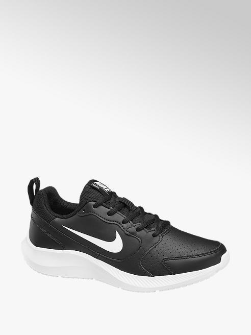 NIKE Čierne kožené tenisky Nike Todos