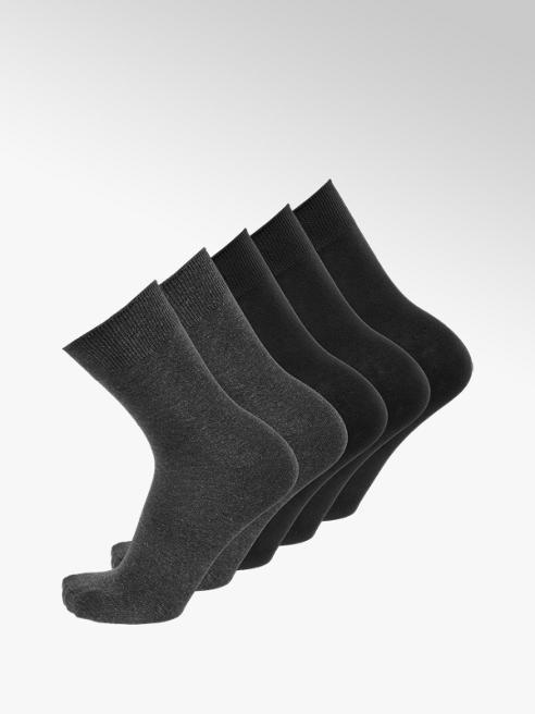 Claudio Conti Čierne ponožky Claudio Conti, 5 párov (1 pár = 1,39 €)
