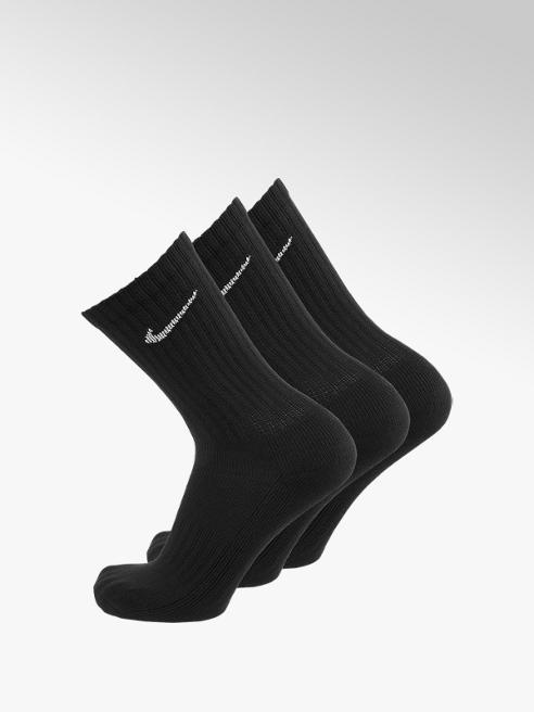 NIKE Čierne športové ponožky Nike – 3 páry