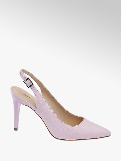 Graceland jasnofioletowe szpilki damskie Graceland z odkrytą piętą