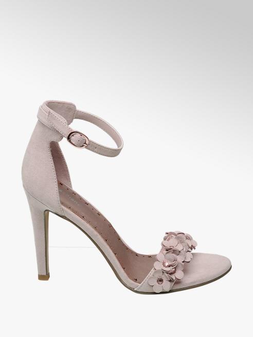 Graceland jasnoróżowe sandały Graceland na szpilce