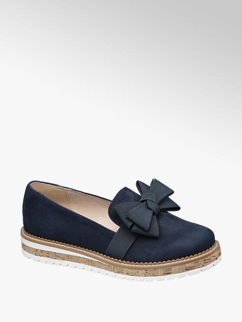 Catwalk Éjkék masnis loafer