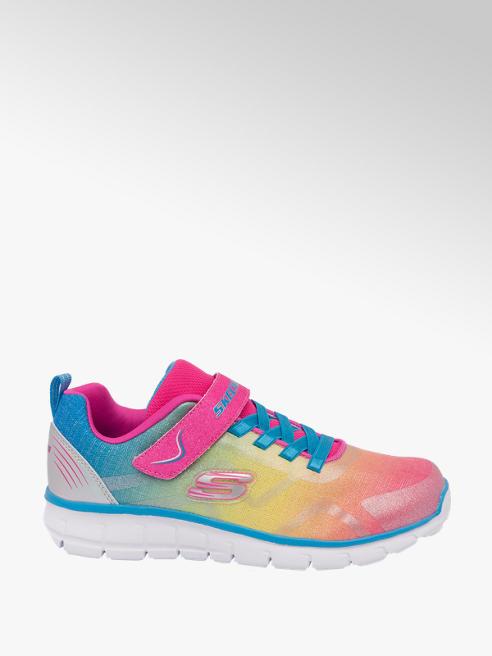 Skechers kolorowe sneakersy dziewczęce Skechers z zapięciem na rzep