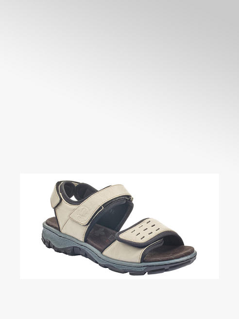 Rieker kremowe sandały damskie Rieker na wygodnej podeszwie