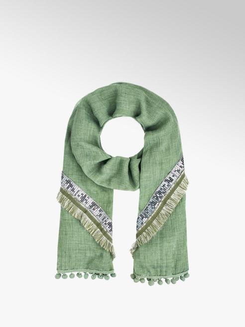 Šál znacky v barve zelená - deichmann.com b99cd2fbb5