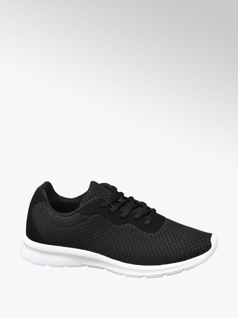 Vty lekkie czarne sneakersy męskie Vty na białej podeszwie