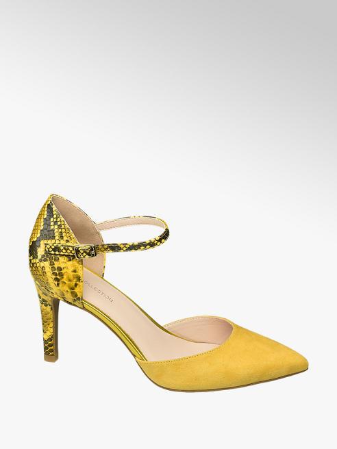 Star Collection Žlté lodičky so zvieracím vzorom Rita Ora