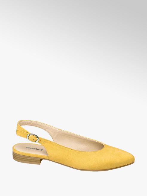 Graceland Žlté slingback baleríny Graceland