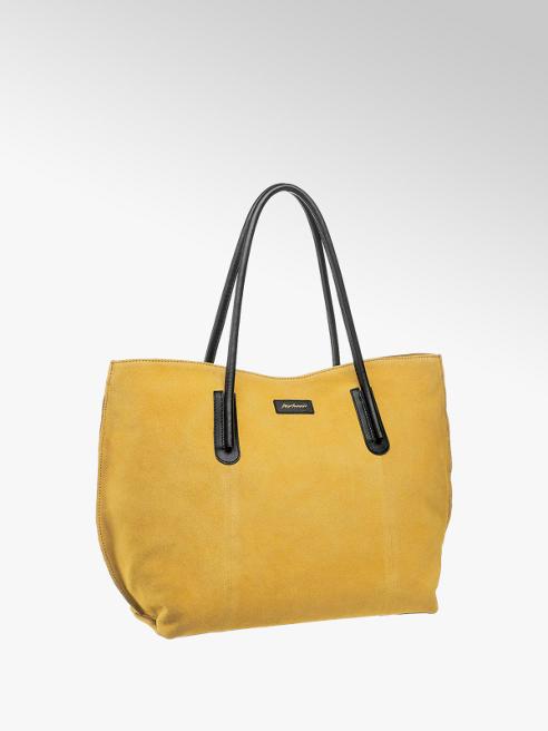 5th Avenue Žlutá kožená kabelka 5th Avenue