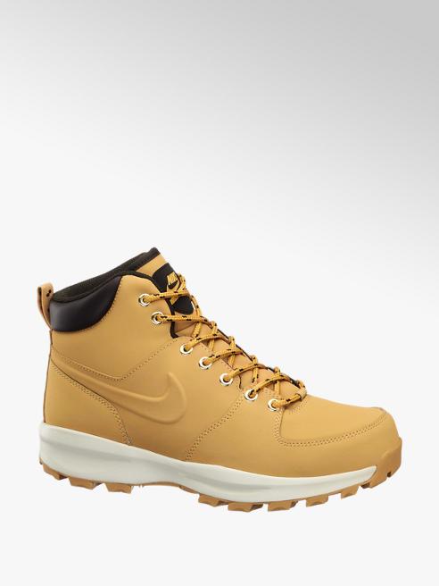 NIKE Žlutá kožená kotníková obuv Nike Manoa