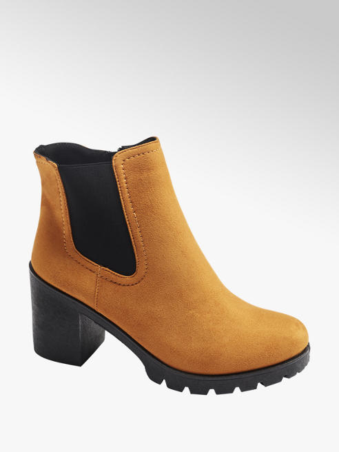 Graceland Žlutá obuv chelsea Graceland se zipem