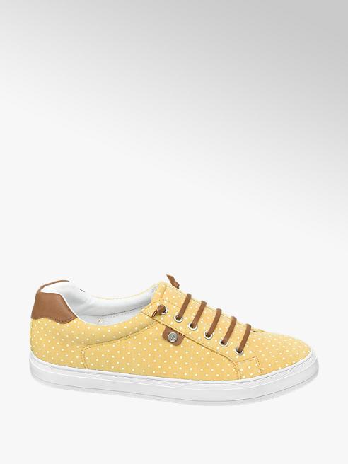 Graceland Žluté plátěné tenisky Graceland s puntíky