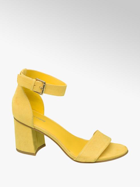Graceland Žluté sandály na podpatku Graceland