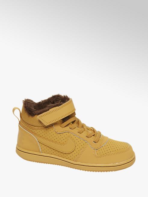 NIKE Žlutohnědé kotníkové tenisky na suchý zip Nike Court Borough Mid Winter (Ps)