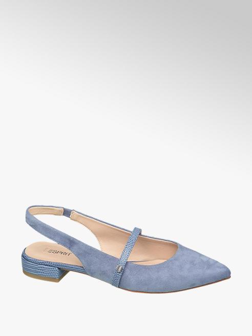 Esprit niebieskie baleriny damskie Esprit z odkrytą pietą