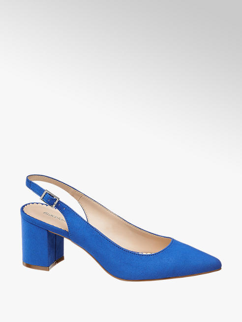 Graceland niebieskie czółenka Graceland typu sling