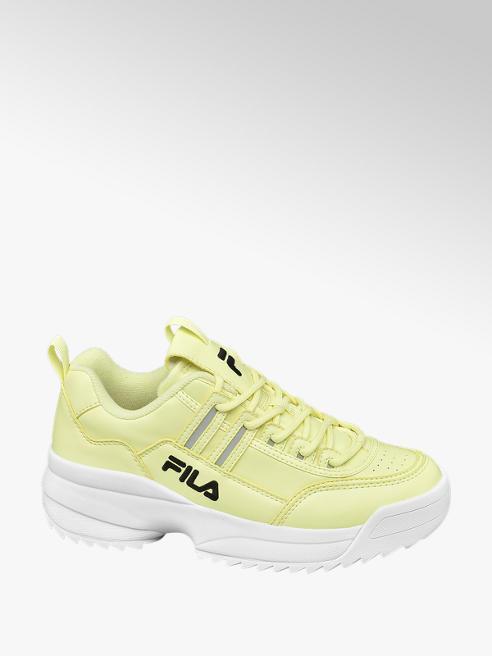 Fila żołte sneakersy damskie Fila na masywnej podeszwie