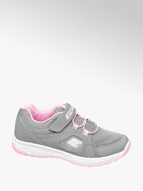 Graceland popielate sneakersy dziewczęce Graceland z różowymi elementami