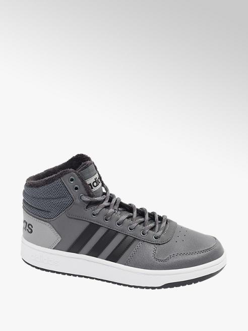 adidas popielate sneakersy męskie adidas Hoops 2.0 Mid