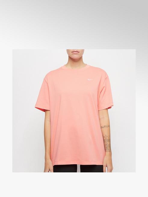 NIKE różowa koszulka damska Nike z białym logo