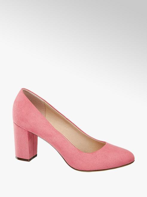 Graceland różowe czółenka damskie Graceland na słupku