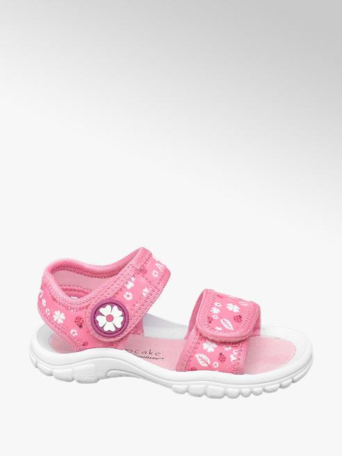 Cupcake Couture różowe sandały dziewczęce Cupcake Couture zapinane na rzepy