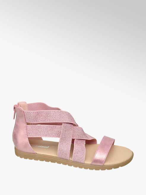 Graceland różowe sandały dziewczęce Graceland