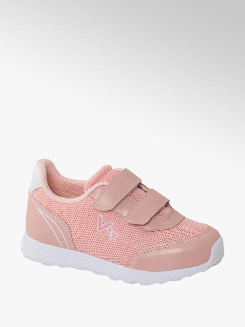 Vty różowe sneakersy dziewczęce Vty zapinane na rzepy