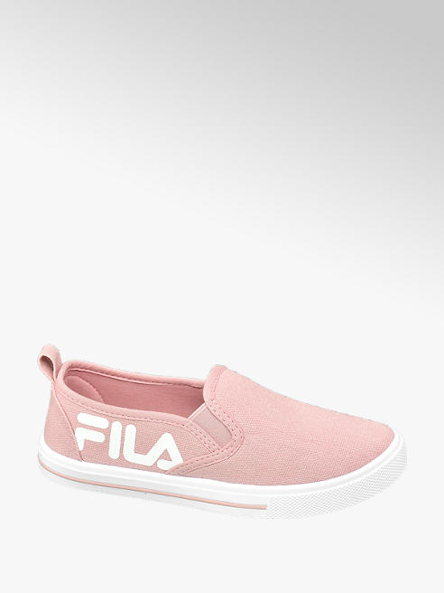 Fila różowe tenisówki dziewczęce Fila z białym logo