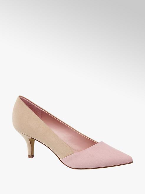 Graceland różowo-beżowe czółenka damskie Graceland