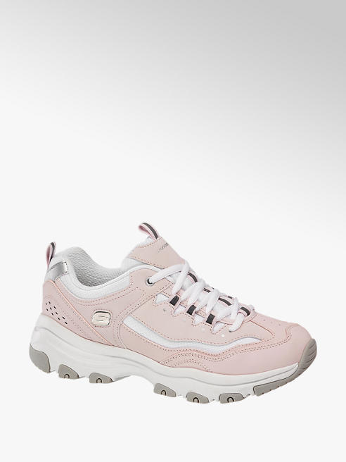 Skechers różowo-białe sneakersy damskie Skechers