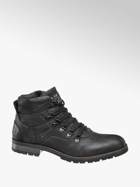 AM SHOE skórzane buty męskie Am Shoe w kolorze czarnym