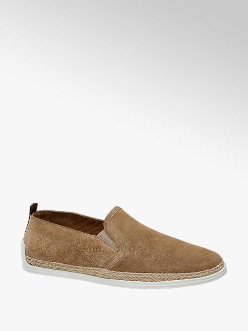 AM SHOE skórzane espadryle męskie Am Shoe w kolorze brązowym