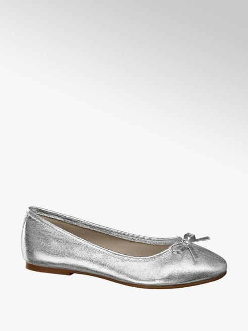 Graceland srebrne baleriny dziewczęce Graceland z kokardką