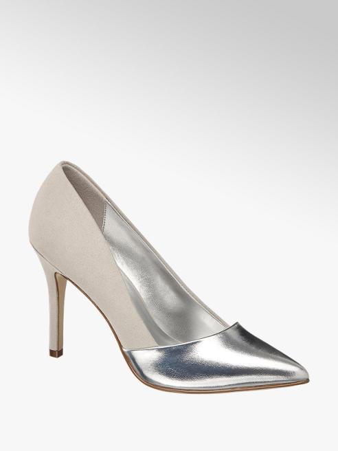 Graceland srebrno-szare szpilki damskie Graceland