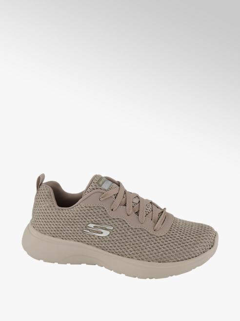 Skechers szare sneakersy damskie Skechers na białej podeszwie