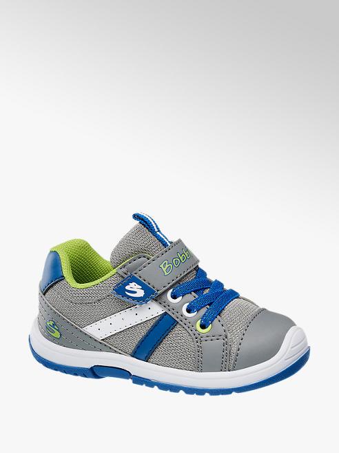 Bobbi-Shoes szaro-niebieskie półbuty dziecięce Bobbi-Shoes z zapięciem na rzep