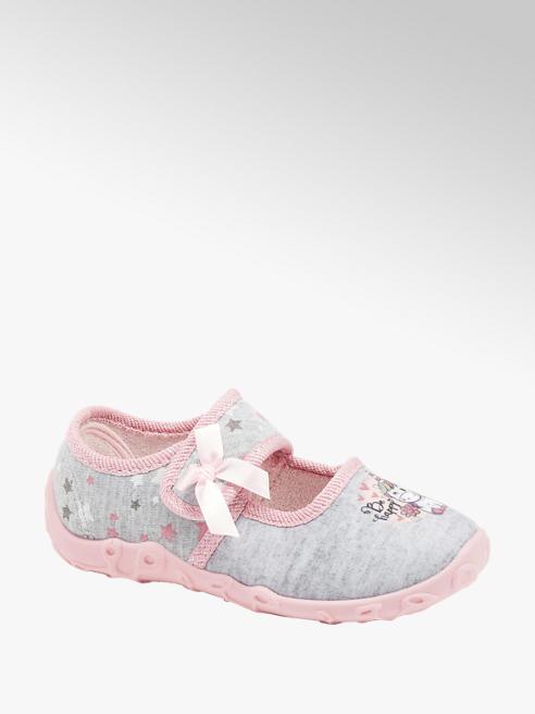 Cupcake Couture szaro-różowe kapcie dziecięce Cupcake Couture