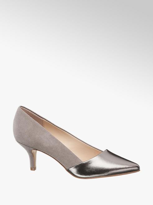 Graceland szaro-srebrne czółenka damskie Graceland
