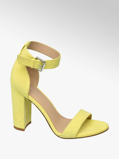 Graceland żółte sandałki Graceland na obcasie